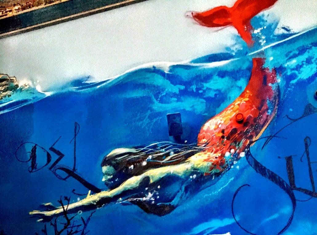 Acuario de Almuñecar grafito del Niño de las Pinturas
