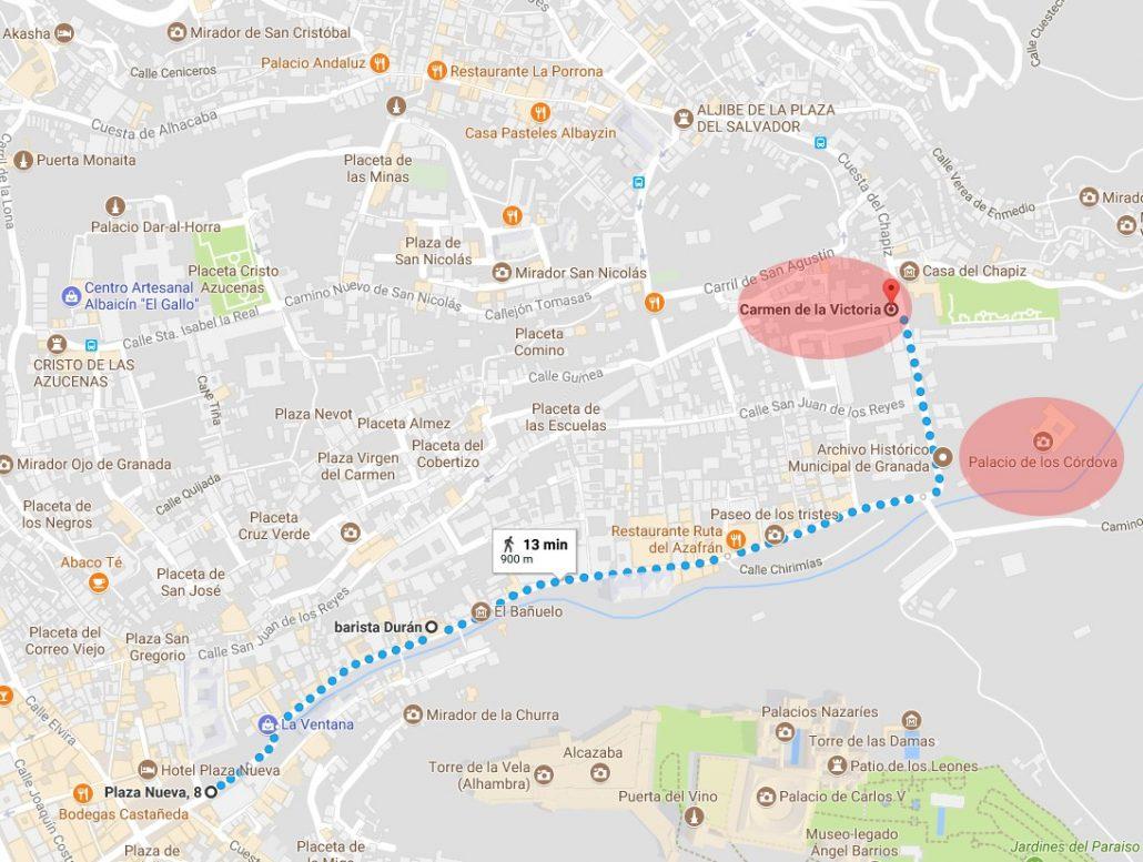 De Plaza Nueva a Carmen de la Victoria