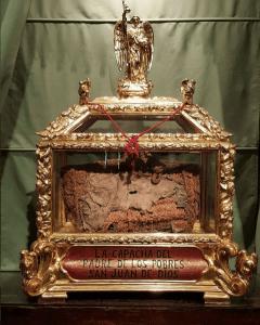 Reliquias del santo