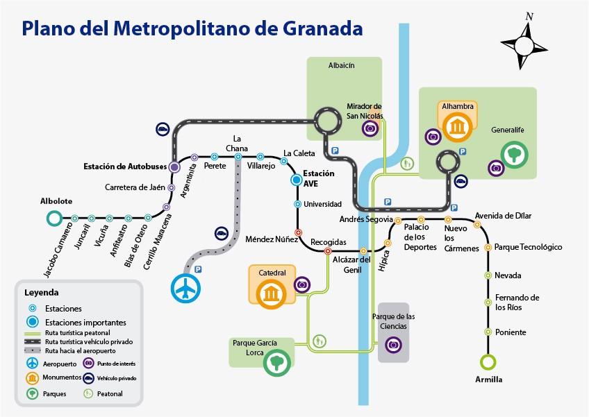 Metro Granada plano